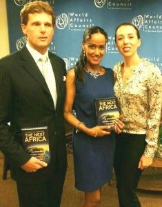 Sophia with The Next Africa Book co-authors Jake Bright and Aubrey Hruby