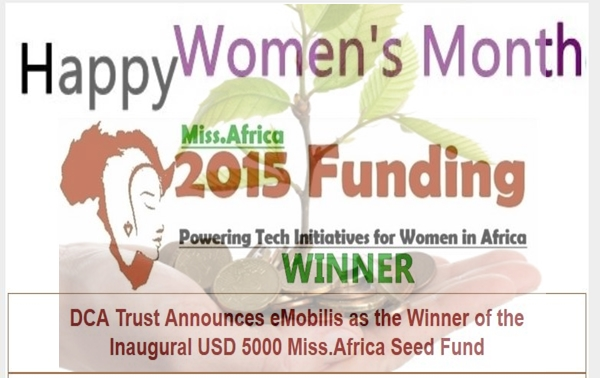 eMobilis Wins the 2015 USD 5000 Miss.Africa Seed Fund from DotConnectAfrica
