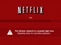 A message Netflix gave Verizon home Internet customers during a money dispute in 2014.