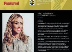 Sophia Bekele DotConnectAfrica Group CEO honored with multiple awards across continents